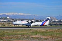 Air Europa Aircraft Landing At Alicante Airport Stock Photos