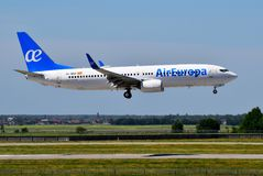 Air Europa Boeing 737 Foto de Stock Royalty Free