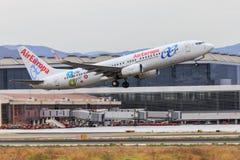Air Europa Boeing 737 start royalty-vrije stock foto's