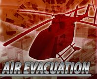 Air evacuation Abstract concept digital illustration Stock Photos