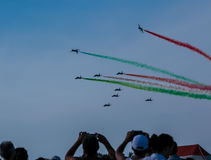 Air exhibition in Italy Stock Photos