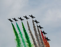 Air exhibition in Italy Royalty Free Stock Images