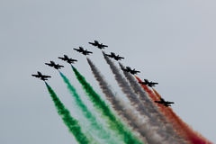 Air exhibition in Italy Stock Image