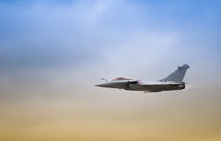 Air fighter. Twin engined delta wing highly agile multi role fighter aircraft Royalty Free Stock Photo