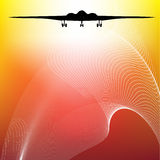 Air fighter. A  background air fighter Stock Photos
