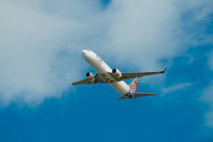 Air Fiji Boeing 737-800 in flight Royalty Free Stock Photos