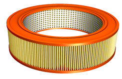 Air Filter. For an automobile with clipping path Royalty Free Stock Photo
