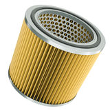 Air filter. Car engine air filter. 3D render Royalty Free Stock Image