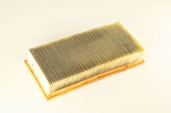 An air filter auto spare part. A car air filter auto spare part Royalty Free Stock Image