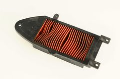 An air filter auto spare part. A car air filter auto spare part Royalty Free Stock Images