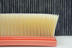 Air filter and the cabin filter Royalty Free Stock Photos