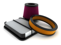 Air filter. Car (done in 3d Royalty Free Stock Image