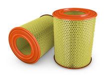 Air filter. For a car on a white background Stock Photo