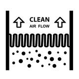 Air filter effect symbol. Illustration for the web Royalty Free Stock Photos