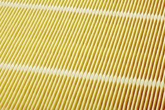 Air filter surface. A car paper air filter surface, focus stacking Stock Photo