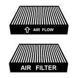 Air filter symbols. Illustration for the web Stock Images