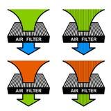 Air filter symbols Royalty Free Stock Image