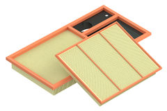Air filters for car, 3D rendering Royalty Free Stock Photos