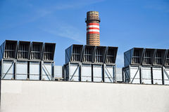 Air filters of the power station Royalty Free Stock Photography