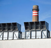 Air filters of the power station Royalty Free Stock Photo