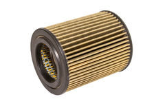 Air filters for use industrial and car on white isolate with cli Royalty Free Stock Photos