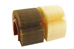 Air filters. Used and new Royalty Free Stock Photos