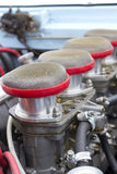 Air filters in vintage racing car Royalty Free Stock Photography