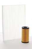 Air filtrerar, och olja filtrerar kassetten Royaltyfria Bilder