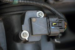 Air flow sensor inside a car Stock Photography