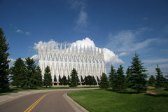 Air Force Academy Chapel Color Stock Photo