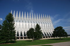 Air Force Academy Chapel Color Stock Photos