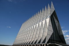 Air Force Academy Chapel Color. Exterior view of the Air Force Academy Chapel, Colorado Springs, Colorado, USA stock image