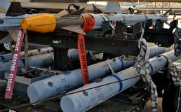 Air Force AIM-9 Sidewinder and AIM-120 AMRAAM Missiles Stock Image