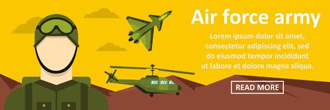 Air force army banner horizontal concept Stock Photo