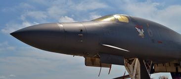Air Force B-1 `Bone`-`Lancer` Bomber Royalty Free Stock Photo
