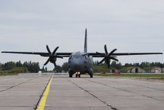 Air force C-27 spartan. Of Lithuania air force Stock Image