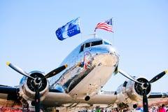 Air Force C-47: Bluebonnet Belle stock image