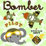 Air force cartoon vector Stock Image