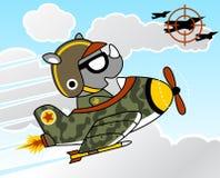 Air force. Air combat with jet vector cartoon Stock Photos