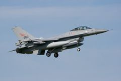 Air Force F16 jetfighter Stock Images