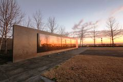 Air Force Glass Memorial Wall DC Stock Photos
