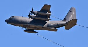 Air Force HC-130J Combat King II. Moody, Georgia, USA - October 27, 2017: A U.S. Air Force HC-130J Combat King II based on the C-130 Hercules airframe. This HC Stock Photography
