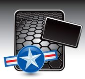 Air force icon on black hexagon banner Stock Images