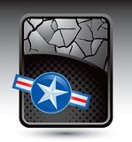 Air force icon on cracked silver background Royalty Free Stock Photos