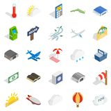 Air force icons set, isometric style. Air force icons set. Isometric set of 25 air force vector icons for web isolated on white background Royalty Free Stock Photos