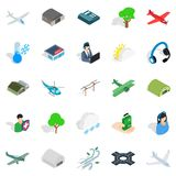 Air force icons set, isometric style. Air force icons set. Isometric set of 25 air force vector icons for web isolated on white background Royalty Free Stock Photography