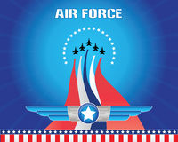 Air force illustration. For backdrop or background, ready to print Royalty Free Stock Photos