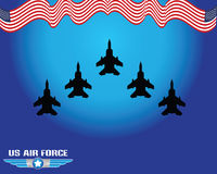 Air force illustration. For backdrop or background, ready to print Royalty Free Stock Images