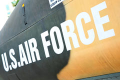 Air Force marking. On the side of helicopter Royalty Free Stock Photo