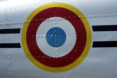 Air force. Markings on the side of a restored vintage aircraft Royalty Free Stock Photos